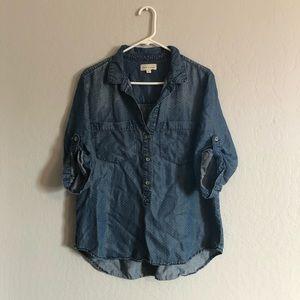 Cloth & stone Anthropologie Polk-a-dot shirt